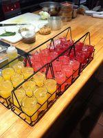 Peach, Rhubard, Cherry Lemonade
