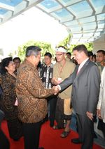 Don Cleary with Indonesian President