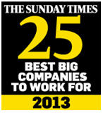 The Sunday Times 2013 25 Best Big Companies to Work For