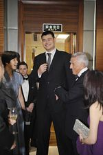 Yao Foundation - Marriott International - Yao Ming, Wife Ye Li and Simon Cooper