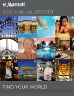 Marriott International 2013 Annual Report