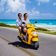 Couple-on-motorbike