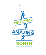 National Amazing Month logo