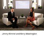 Jimmy Kimmel and Kerry Washington