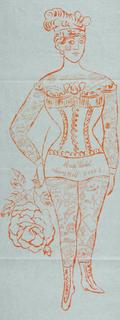 Andy Warhol - Tattooed Woman Holding Rose